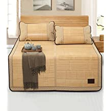 PENGFEI estera del verano Cama-colchón plegable Colchón Supercool Alfombras de bambú Colchón tejido Uso de doble cara para el verano-Twin / Full / Queen / King Size Antideslizante transpirable ( Color : 1mat , Tamaño : 135*198cm )