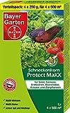 Bayer Garten Protect MaXX Schneckenkorn, Blau, 4 x 250 g
