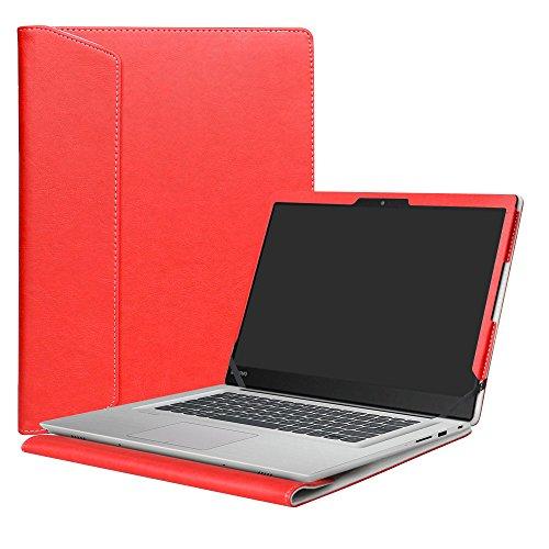 Alapmk Diseñado Especialmente La Funda Protectora de Cuero de PU Para 14' Lenovo Ideapad 320s 14 320s-14ikb/Ideapad 520s 14 520s-14IKB Series Ordenador portátil,Rojo