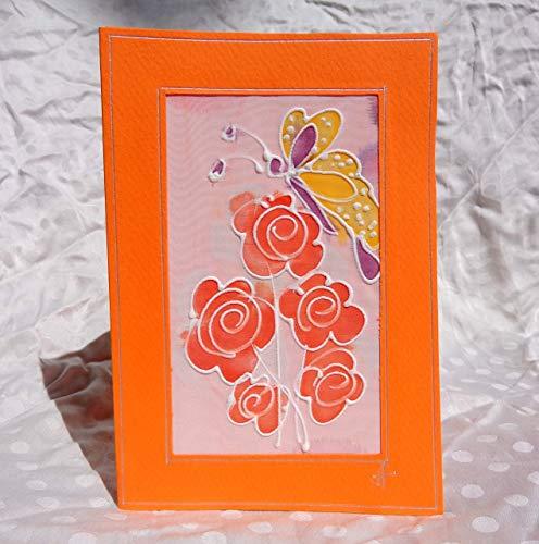 Verkauf!!!17% reduziert,Schmetterling Karte/handgemalte Seide Karte/Geschenkpapier/schöne Muttertagskarte/Geburtstag/Hochzeit/hübsche Mütter Tag Karte/Dankeschön-Karten (Verkauf Mütter Tag)