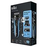 Braun Series 3 Shave und Style Elektrischer Rasierer und Trimmer 3010BT, blau/schwarz - 6