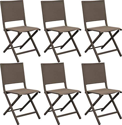 Proloisirs Chaise Pliante En Aluminium Florence Lot De 6