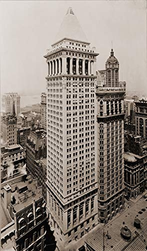 National Bank Street (Bankers Trust & Hanover National Bank Building On Wall Street Poster Print (45,72 x 60,96 cm))