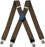 Hosenträger für Herren breit extra starken 4 cm mit 4er Clips X-Form lange für Männer und Damen Hose alle Farben