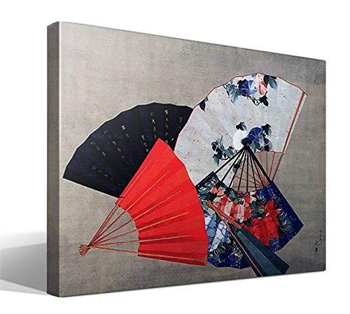 Cuadro Canvas Cinco Abanicos de Katsushika Hokusai
