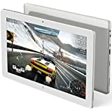 Tablet computer, Tablette, Cube iwork 1x i30 Intel Atom X5-Z8350 11.6 Inch IPS 1920*1080 4GB Ram 64GB Rom Win10+Android 5.1 Tablet PC MINI HDMI Bluetooth 2.0MP (Tablet (Front white/black silver))