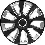 ZentimeX Z778235 Radkappen Radzierblenden universal 15 Zoll black&silver