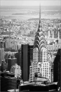 Canvas print 40 x 60 cm: Chrysler Buildung in New York City by Michael Haußmann - ready-to-hang wall picture, stretched on canvas frame, printed image on pure canvas fabric, canvas print