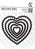 Docrafts Nesting Dies, Scalloped Heart (Pack of 5)