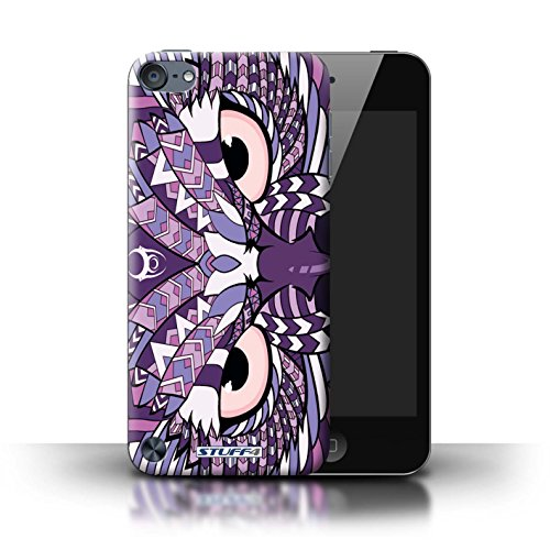 Stuff4® Hülle/Hülle für Apple iPod Touch 5 (5th Generation) / Eule-Lila Muster/Aztec Tier Muster Kollektion (Ipod 4. Generation Eule Case)