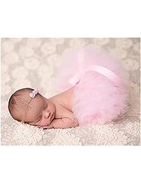 BINLUNNU bebé recién nacido fotografía apoyos niño Niña Crochet disfraz trajes tutú falda