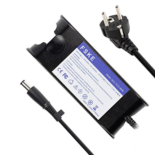 FSKE® 90W 19.5V 4.62A LA65NS0-00 PA-12 Cargador de Laptop para DELL XPS 13 Inspiron 15 13 17 AC Adaptador,E5440 E7240 15 500 Notebook EUR Power Supply,7.4 * 5.0mm
