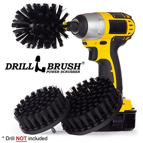 Drillbrush Heavy Duty Nylon Drill Powered Reinigungsbürste Kit für die Reinigung Grill schwarz