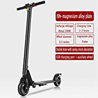 YIWANGO Electric Scooter Adult Folding Battery Car Two-wheeled Scooter Adult Men And Women The Top Speed Can Reach 25KM/H Carbon Fiber Scooter,Black2