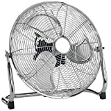 "MP Essentials Chrome Metal High Velocity Cold Air Circulator Adjustable Floor Fan (14"")"
