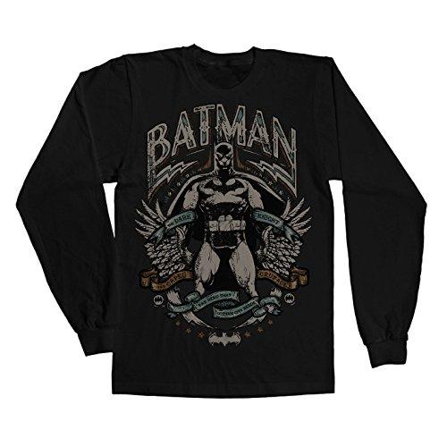 Officially Licensed Merchandise Dark Knight Crusader Long Sleeve Tee (Black), Small