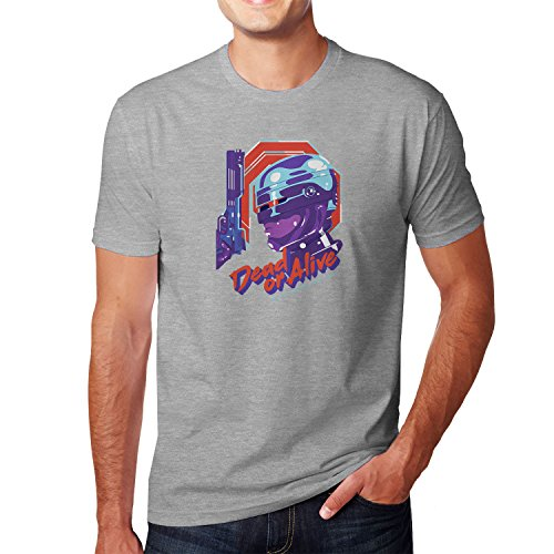 Planet Nerd - Dead or Alive - Herren T-Shirt Grau Meliert