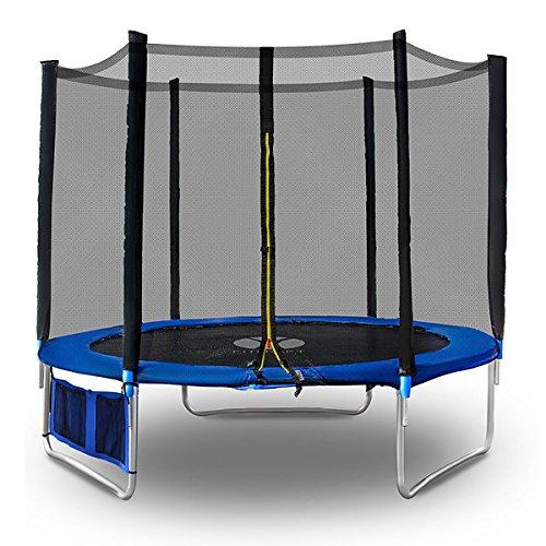 fitkraft-hoppa-outdoor-trampolin-250-cm-red-trampolin-de-jardin-red-de-seguridad-accesorios-completo