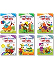 Cartoon Colouring Collections Set of 6
