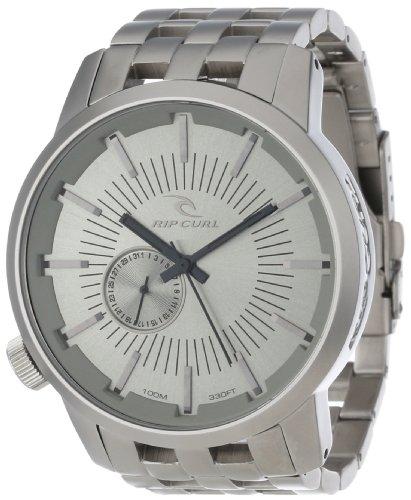 RIP CURL A2227 - GRY - Reloj de Pulsera Hombre, Acero Inoxidable, Color Plata