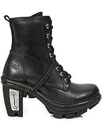 New Rock Hombres Marrón Impreso Estrecho Forma Formal Zapatos - M.2246.S32 (EU 40, Marrón)