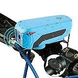 Fahrradbeleuchtung Set Mit Sprechern - hibote Berühren Fahrradbeleuchtung, Fahrradlampe mit T6 Birne eingesetzt, USB Wiederaufladbar, Ein Notwendiges Gerät Fahrradlicht Zum Radfahren, Camping, Jagd oder Nacht Angeln