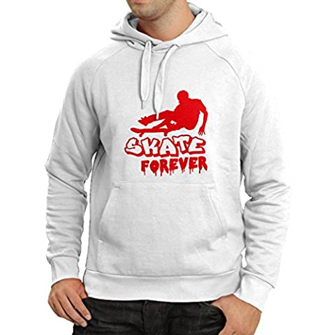 N4193H Hoodie Skate Forever t-shirt (X-Large White Red)