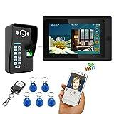 Love Life Video-visuelle Türklingel, Home Security-Kamerasystem, WiFi-Remote-HD-Video-Intercom-Türklingel-Fingerabdruckkennwort, Gegensprechanlage,WiFihalf