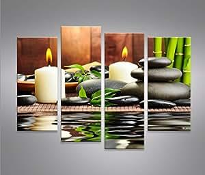 Zen stones 4 quadri moderni su tela pronti da appendere - Quadri da appendere in bagno ...