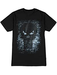 Greucy-darkPunisher Brick Skull Logo Adult T-shirt