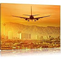 viaggio di vacanza a Las Vegas, Formato: 80x60 su tela, XXL enormi immagini completamente Pagina con la barella, stampa d