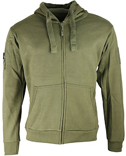 Für Special Ops Kostüm Erwachsene - Kombat Tactical Mens Spec Ops Fleece Hoodie Hoody Green And Deluxe Heavy Weight Material Military Special Forces (Large = Chest 42-44 inch)