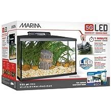 Marina Kit de Acuario con Iluminación LED 5G, ...
