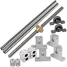 BQLZR eje lineal lineal de 200 mm y eje de 8 mm con tuercas Soporte de doble carril Soporte de rodamiento CNC y juego de soporte de acoplador paso a paso