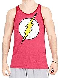 The Flash Distressed Vintage Lightning Bolt Logo Erwachsene Baked Apple rot Tank Top