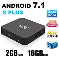 2017 NEW Model Android 7.1 Smart TV BOX U2C X PLUS 2GB 16GB Octa Core 3D 4K H.265 VP9 2.4/5GHz Dual-Band WiFi Media Player