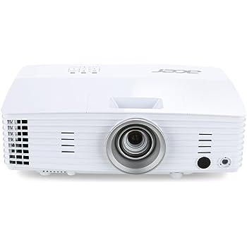 Acer H6518BD Proiettore, Risoluzione 1080P, Connessione HDMI, VGA/MHL, DLP 3D, Luminosità 3.200 ANSI, Contrasto 20.000:1, Lamp Life 3.500 h, Speaker Integrati, Bianco
