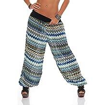 Malito Bombacho con Zigzag diseño Boyfriend Aladin Harem Pantalón Sudadera  Baggy Yoga 7197 Mujer Talla Única 07c8e23b5e49