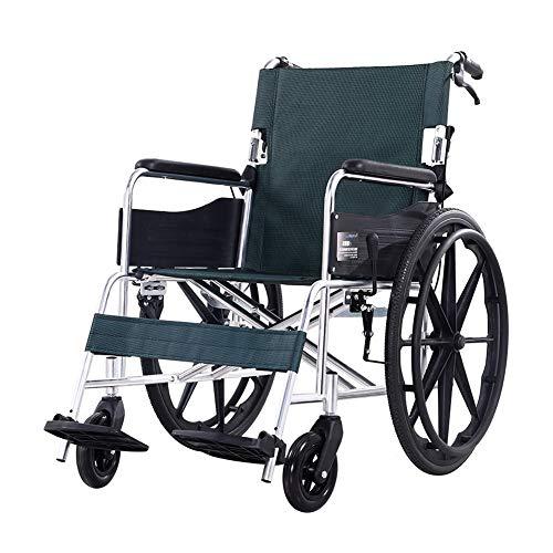 luminiumbewegliche Entfernbare Fußrasten Zusammenklappbar Mit Handgriffen Zum Bremsen Tragbarer Reise-Stuhl Ältere Behinderte ()
