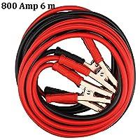 Caractéristiques : Matériau: câble en cuivre. Longueur : 6 mètres. Couleur : noir et rouge. Poids: 3kg. Contenu de la livraison : ¡¡ 1Câble de démarrage très résistant de batterie Jump Start Câbles 800amp 6m de long Boost van voiture