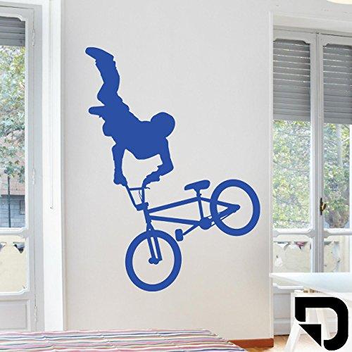 DESIGNSCAPE® Wandtattoo Cooler BMX Fahrer 57 x 80 cm (Breite x Höhe) schwarz DW810061-S-F4