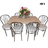 all4all Design Esstisch Küchentisch Bistrotisch mit Chromfuß 120x75 + 4 Stühle Farbenauswahl