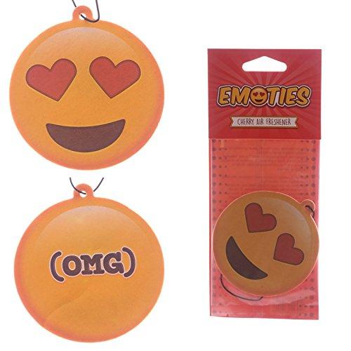 Design Emoji Emoticon Deodorante per auto Sorriso innamorato