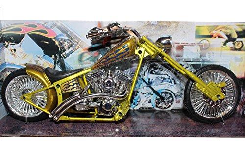 New Ray Custom Gold Chopper, modele en Plastique à l'echelle 1:12, moulee sous Pression