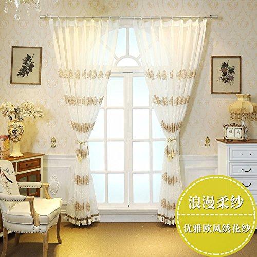 Tende sipario ricamato rousha panno schermi da finestra balcone cortina,b,250 x 270 cm (w x h) x 2,