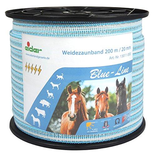 *Weidezaunband 200m, 20mm, Blue-Line*