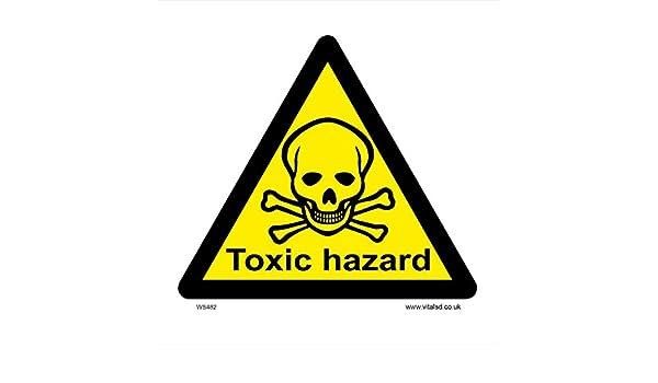 Segnale di avvertimento-pericolo TOXIC HAZARD 300 x 200mm segnaletica di sicurezza