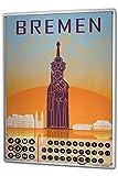Wandkalender 2019 Jahreskalender Dauerkalender 2020 Kalender 2021 Terminplaner Fotokalender Reisen Küche Bremen Metall Magnet