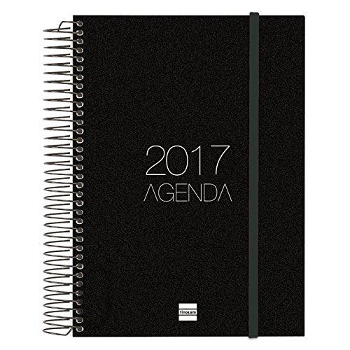 cabero-948341-agenda-dia-por-pagina-castellano-155-x-215-cm-color-negro