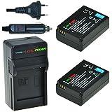 ChiliPower Samsung BP1030, BP1130 Kit: 2x Batería (1130mAh) + Cargador para Samsung NX200, NX210, NX300, NX1000, NX1100, NX2000, ED-BP1030
